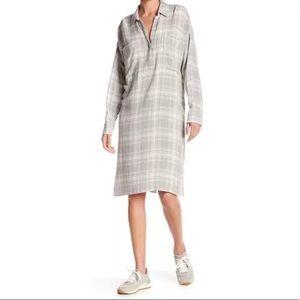 James Perse Oversized Plaid Shirt Dress Size 3